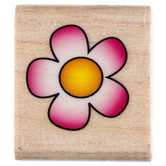 Flower Power Rubber Stamp